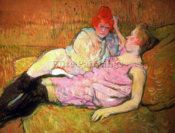 TOULOUSE-LAUTREC THE SOFA ARTIST PAINTING REPRODUCTION HANDMADE OIL CANVAS REPRO