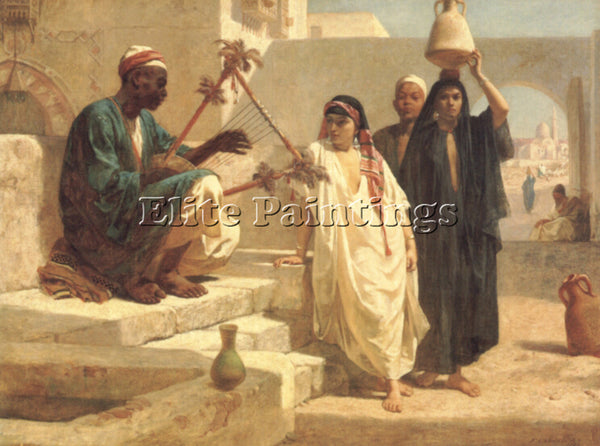 FREDERICK GOODALL THE SONG OF THE NUBIAN SLAVE ARTIST PAINTING REPRODUCTION OIL