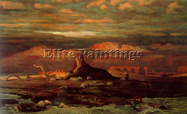 VEDDER ELIHU THE SPHINX OF THE SEASHORE ARTIST PAINTING REPRODUCTION HANDMADE