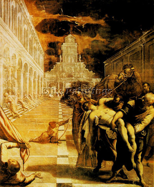 JACOPO ROBUSTI TINTORETTO THE STEALING OF THE DEAD BODY OF ST MARK REPRODUCTION