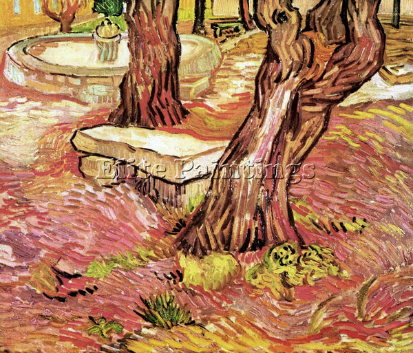VAN GOGH THE STONE BENCH IN THE GARDEN OF SAINT PAUL HOSPITAL PAINTING HANDMADE