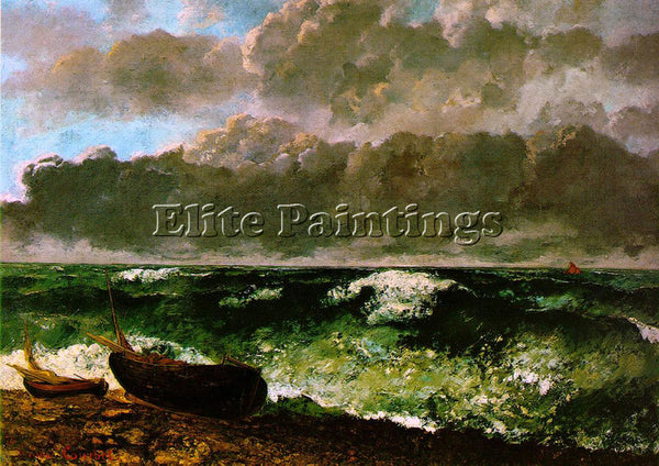 GUSTAVE COURBET THE STORMY SEA OR THE WAVE WBM ARTIST PAINTING REPRODUCTION OIL