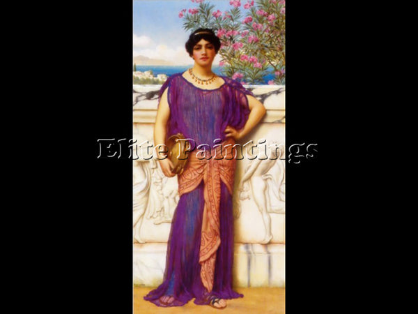 JOHN WILLIAM GODWARD THE TAMBOURINE GIRL2 1906 ARTIST PAINTING REPRODUCTION OIL