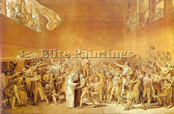 JACQUES-LOUIS DAVID THE TENNIS COURT OATH CGF ARTIST PAINTING REPRODUCTION OIL