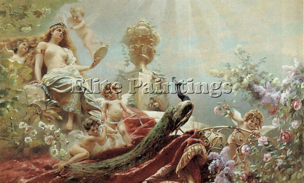 KONSTANTIN MAKOVSKY THE TOILET OF VENUS ARTIST PAINTING REPRODUCTION HANDMADE