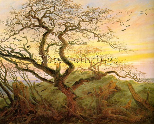 CASPAR DAVID FRIEDRICH THE TREE OF CROWS ARTIST PAINTING REPRODUCTION HANDMADE