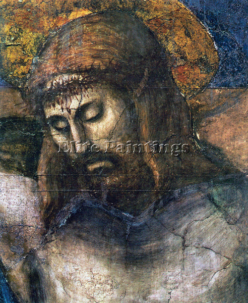 MASACCIO THE TRINITY DETAIL 2  ARTIST PAINTING REPRODUCTION HANDMADE OIL CANVAS