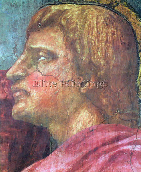 MASACCIO THE TRINITY DETAIL 4  ARTIST PAINTING REPRODUCTION HANDMADE OIL CANVAS
