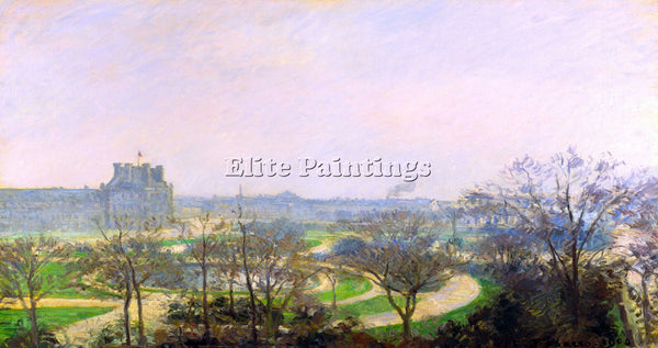 PISSARRO THE TUILERIES ARTIST PAINTING REPRODUCTION HANDMADE CANVAS REPRO WALL