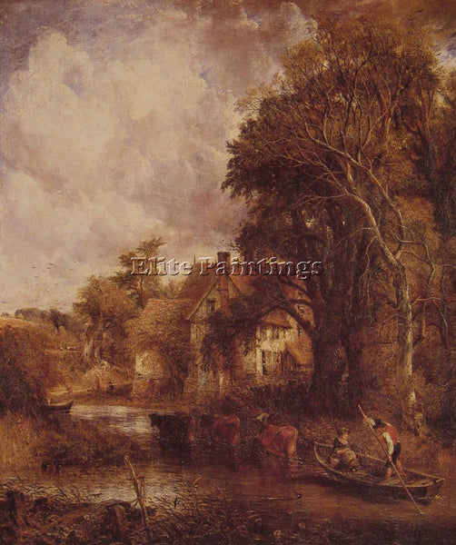 JOHN CONSTABLE THE VALLEY FARM ARTIST PAINTING REPRODUCTION HANDMADE OIL CANVAS