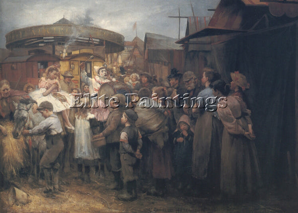ROBERT GEMMELL HUTCHISON THE VILLAGE CARNIVAL ARTIST PAINTING REPRODUCTION OIL