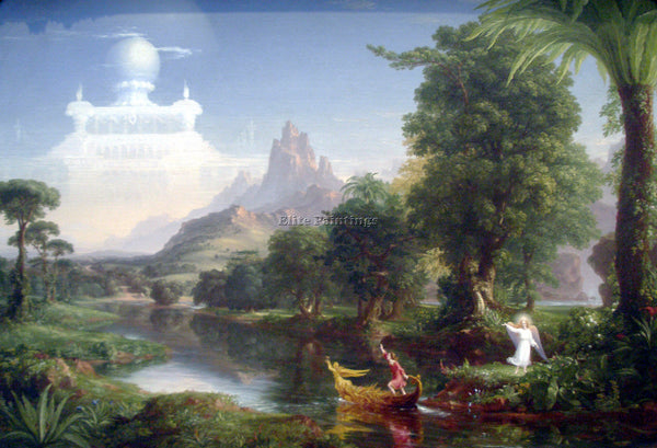 HUDSON RIVER THE VOYAGE OF LIFE YOUTH BY THOMAS COLE ARTIST PAINTING HANDMADE