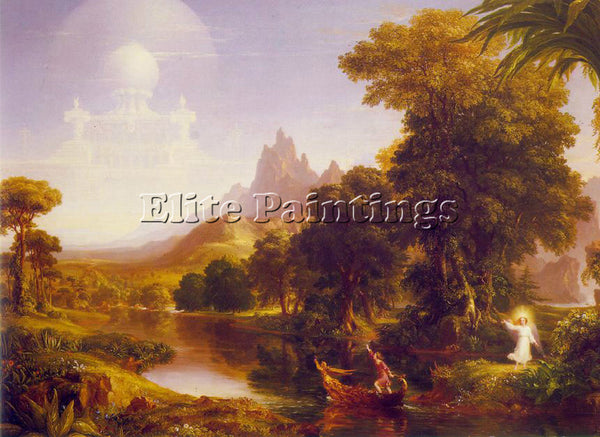 THOMAS COLE THE VOYAGE OF LIFE YOUTH ATC ARTIST PAINTING REPRODUCTION HANDMADE