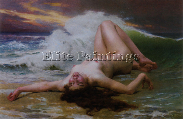 GUILLAUME SEIGNAC WAVE ARTIST PAINTING REPRODUCTION HANDMADE CANVAS REPRO WALL