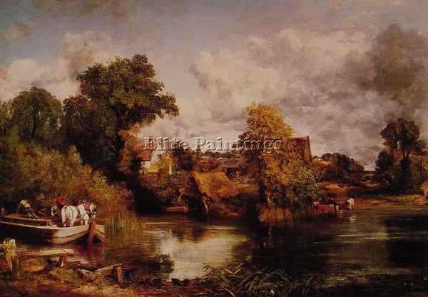 JOHN CONSTABLE THE WHITE HORSE ARTIST PAINTING REPRODUCTION HANDMADE OIL CANVAS