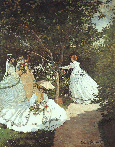 CLAUDE MONET THE WOMEN IN THE GARDEN ARTIST PAINTING REPRODUCTION HANDMADE OIL