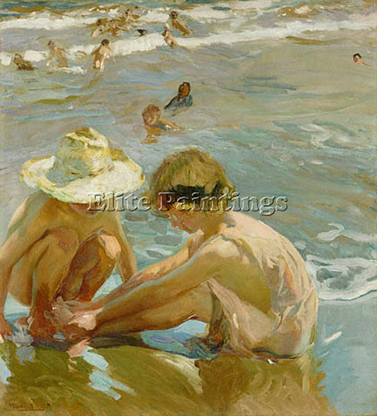 JOAQUIN SOROLLA Y BASTIDA THE WOUNDED FOOT GTY ARTIST PAINTING REPRODUCTION OIL