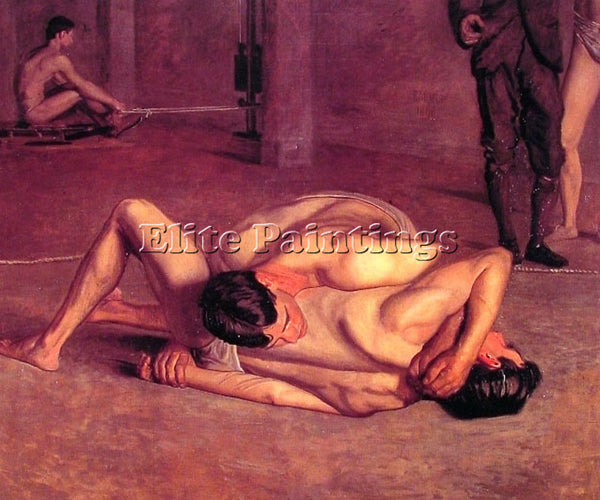 THOMAS EAKINS THE WRESTLERS ARTIST PAINTING REPRODUCTION HANDMADE OIL CANVAS ART