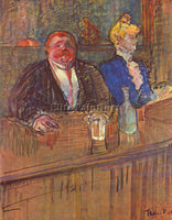 TOULOUSE-LAUTREC THE BAR 2 ARTIST PAINTING REPRODUCTION HANDMADE OIL CANVAS DECO