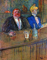 TOULOUSE-LAUTREC THE BAR ARTIST PAINTING REPRODUCTION HANDMADE CANVAS REPRO WALL