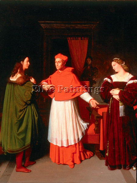 JEAN AUGUSTE DOMINIQUE INGRES THE BETROTHAL OF RAPHAEL ARTIST PAINTING HANDMADE
