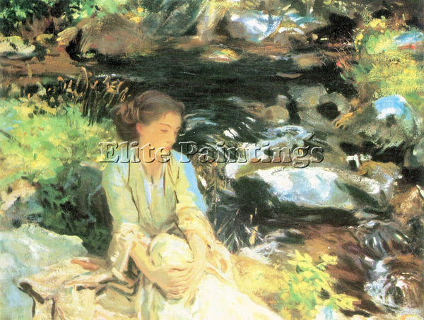 JOHN SINGER SARGENT THE BLACK CREEK ARTIST PAINTING REPRODUCTION HANDMADE OIL