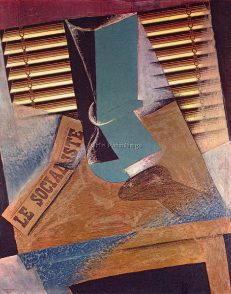 JUAN GRIS THE BLIND ARTIST PAINTING REPRODUCTION HANDMADE CANVAS REPRO WALL DECO