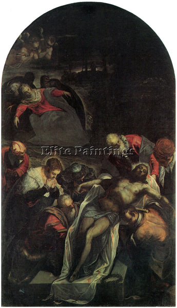 TINTORETTO THE BURIAL ARTIST PAINTING REPRODUCTION HANDMADE OIL CANVAS REPRO ART