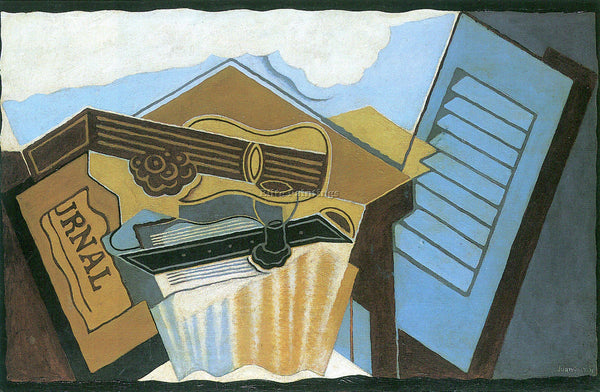 JUAN GRIS THE CLOUD ARTIST PAINTING REPRODUCTION HANDMADE CANVAS REPRO WALL DECO