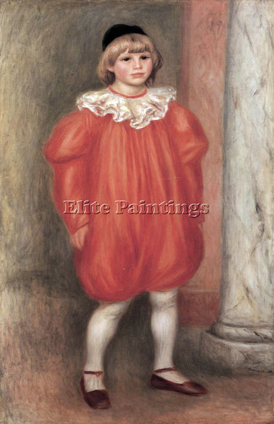 RENOIR THE CLOWN ARTIST PAINTING REPRODUCTION HANDMADE OIL CANVAS REPRO WALL ART