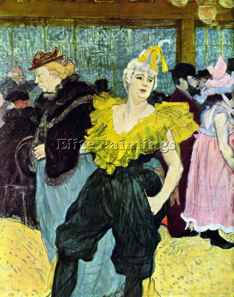 TOULOUSE-LAUTREC THE CLOWNESS TOULOUSE LAUTREC 036 ARTIST PAINTING REPRODUCTION