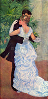 RENOIR THE DANCE IN THE CITY ARTIST PAINTING REPRODUCTION HANDMADE CANVAS REPRO
