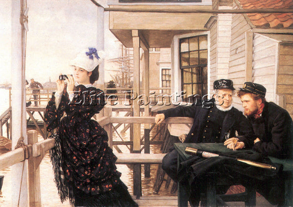 TISSOT THE DAUGHTER OF THE MASTER ARTIST PAINTING REPRODUCTION HANDMADE OIL DECO