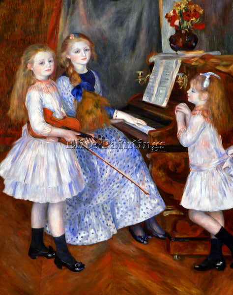 RENOIR THE DAUGHTERS OF CATULLE MENDES ARTIST PAINTING REPRODUCTION HANDMADE OIL