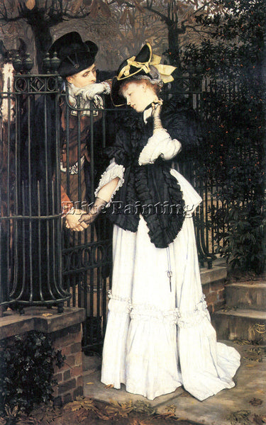 TISSOT THE FAREWELL ARTIST PAINTING REPRODUCTION HANDMADE CANVAS REPRO WALL DECO