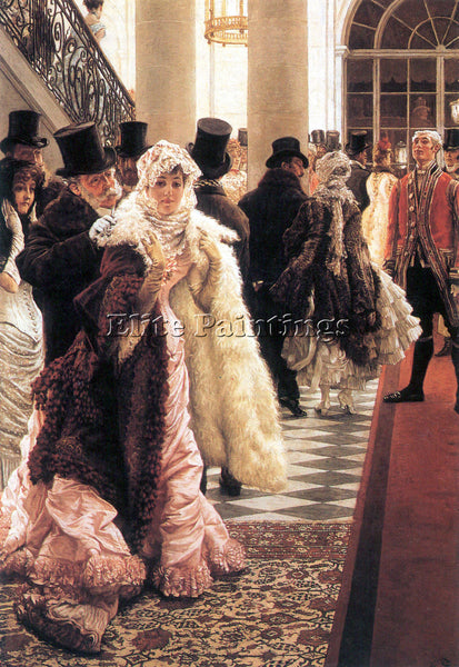 TISSOT THE FASHIONABLE WOMAN ARTIST PAINTING REPRODUCTION HANDMADE CANVAS REPRO