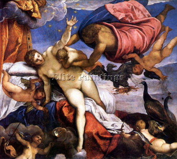 TINTORETTO THE FORMATION OF THE MILKY WAY ARTIST PAINTING REPRODUCTION HANDMADE