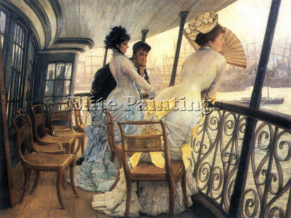 TISSOT THE GALLERY OF THE H M S CALCUTTA ARTIST PAINTING REPRODUCTION HANDMADE
