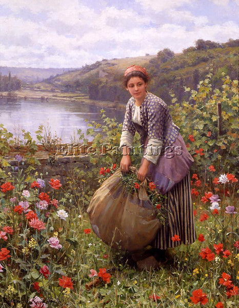 DANIEL RIDGWAY KNIGHT THE GRASS CUTTER ARTIST PAINTING REPRODUCTION HANDMADE OIL