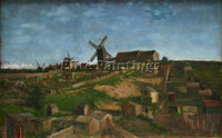VAN GOGH THE HILL OF MONMARTRE ARTIST PAINTING REPRODUCTION HANDMADE OIL CANVAS