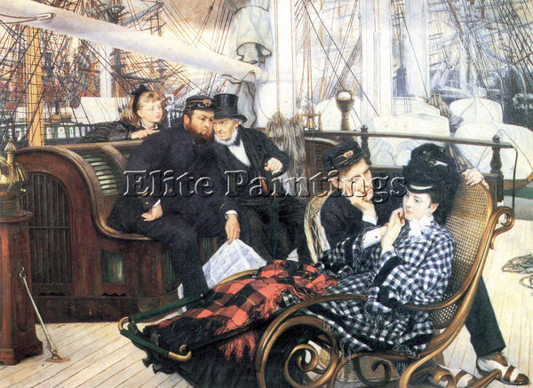 TISSOT THE LAST EVENING ARTIST PAINTING REPRODUCTION HANDMADE CANVAS REPRO WALL