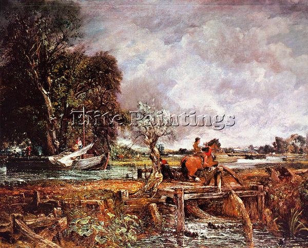JOHN CONSTABLE THE LEAPING HORSE ARTIST PAINTING REPRODUCTION HANDMADE OIL REPRO