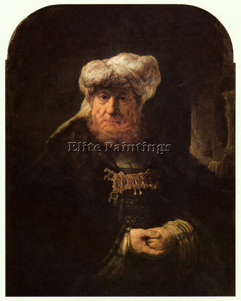 REMBRANDT THE LEPER KING UZZIAH ARTIST PAINTING REPRODUCTION HANDMADE OIL CANVAS