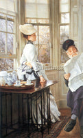 TISSOT THE MESSAGES READ ARTIST PAINTING REPRODUCTION HANDMADE CANVAS REPRO WALL