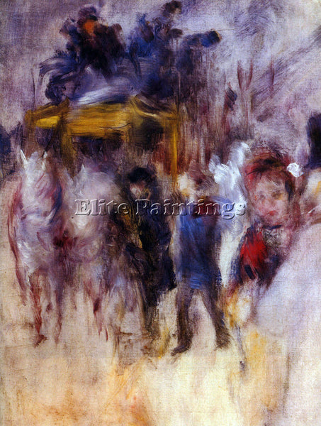 RENOIR THE PLACE CLICHY DETAIL  ARTIST PAINTING REPRODUCTION HANDMADE OIL CANVAS