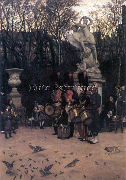 TISSOT THE RETURN MARCH IN THE TUILERIES ARTIST PAINTING REPRODUCTION HANDMADE