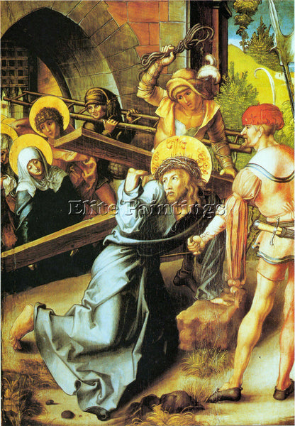 DURER THE SEVEN MARY S PAIN CRUCIFICTION ARTIST PAINTING REPRODUCTION HANDMADE