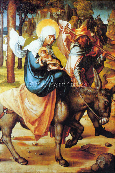 DURER THE SEVEN MARY S PAIN FLIGHT INTO EGYPT ARTIST PAINTING REPRODUCTION OIL