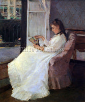 MORISOT THE SISTER OF THE ARTIST AT A WINDOW ARTIST PAINTING HANDMADE OIL CANVAS