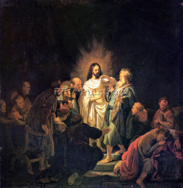REMBRANDT THE UNBELIEVING THOMAS 1  ARTIST PAINTING REPRODUCTION HANDMADE OIL
